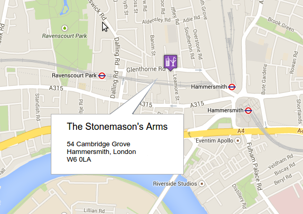 The Stonemason's Arms - 54 Cambridge Grove, Hammersmith, London W60LA